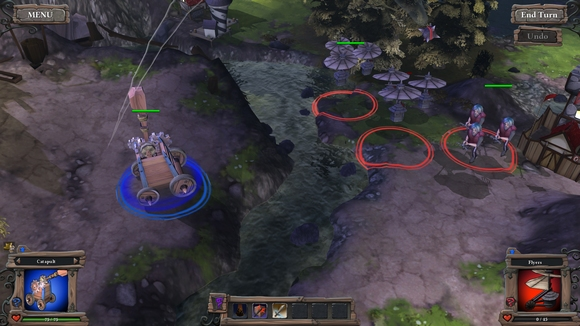 screenshot highborn pc indie battle catapult