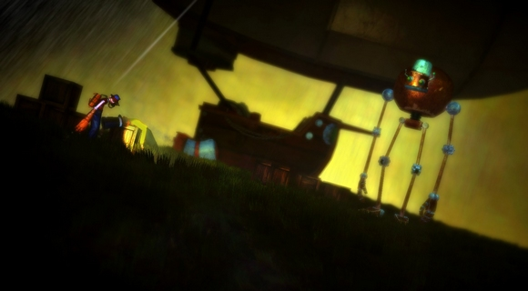 screenshot spate pc indie platformer art robot