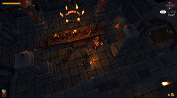 screenshot tinykeep phi games rogue-like tafel