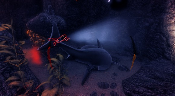 depth screenshot hai taucher höhle