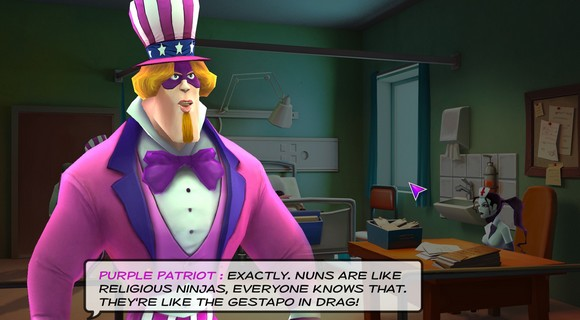 screenshot supreme league of patriots ep2 hospital