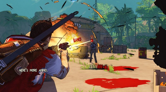 screenshot escape dead island explosion am flugfeld