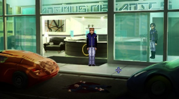 screenshot technobabylon wadjeteye technocrat adventure falling