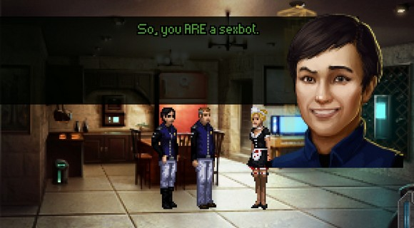 screenshot technobabylon wadjeteye technocrat adventure sexbot