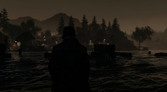 screenshot watch dogs walking in water