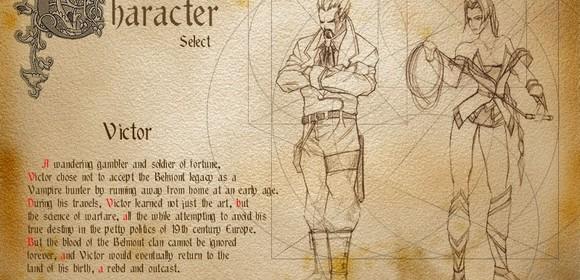 verlorene welten castlevania resurrection screenshot character select