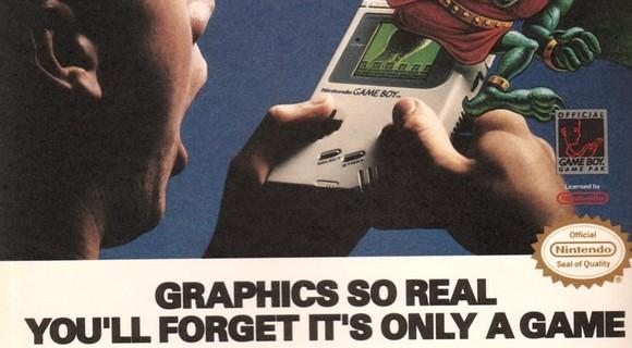 technische meilensteine graphics so real gameboy ad