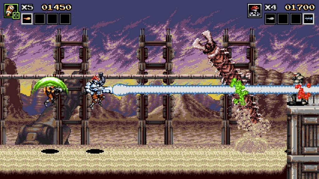 Der Laserstrahl trifft gleich mehrere Gegner, muss aber erst aufgeladen werden.