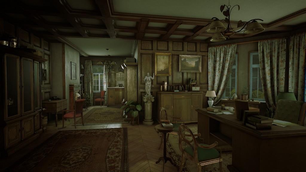 Das edle Arbeitszimmer ist nur einer von vielen detailverliebten Räumen.