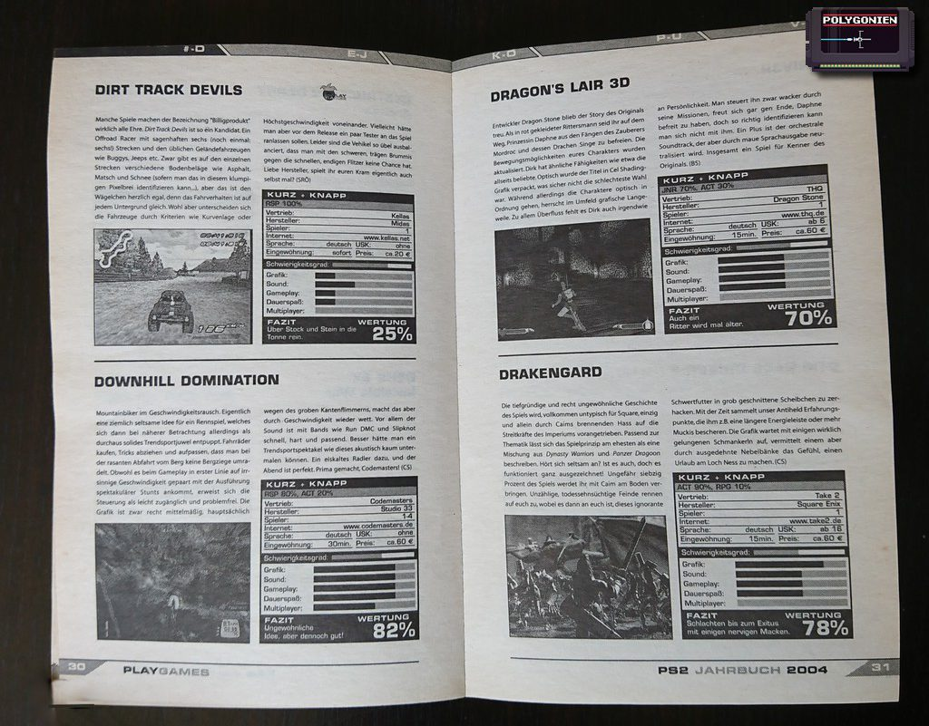 Foto PlayGames PS2 Jahrbuch 2004 Tests